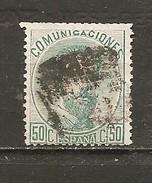 España/Spain-(usado) - Edifil  126 - Yvert  125 (o) (defectuoso) - 1872-73 Reino: Amadeo I