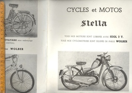 Feuillet Publicitaire Cyclomoteurs Cycles Et Motos STELLA Nantes 1955 Cyclomoteur  Mobylette Vélomoteur - Verkehr & Transport