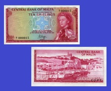 Malta  10 Shillings 1967  - Copy - Copy- Replica - REPRODUCTIONS - Malte