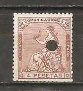 España/Spain - (usado) - Edifil Telégrafo 139T - Yvert 138 (defectuoso) - Telegramas