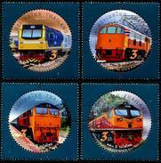 THAÏLANDE 2017 - 120e Ann Des Chemins De Fer Thaïlandais, Trains - 4 Val Neufs // Mnh - Thailand
