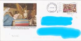 D1168 Entier / Stationery / PSE - PAP Toits De Bourgogne : Tombeau Des Ducs à Dijon - N° D'agrément 809-42k/0510112 - Postal Stamped Stationery