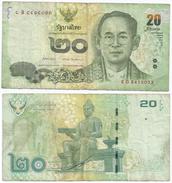 Tailandia - Thailand 20 Bath 2013, Firma 1 Pick 118 Ref 1285 - Tailandia