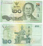 Tailandia - Thailand 20 Bath 2013, Firma 1 Pick 118 Ref 1286 - Tailandia