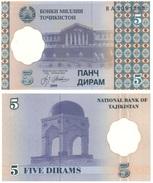Tajikistan - Tayikistan 5 Diram 1999 Pick 11.a UNC - Tanzanie