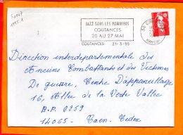 MANCHE, Coutances, Flamme à Texte, Festival Jazz Sous Les Pommiers 20-27 Mai - Marcophilie (Lettres)