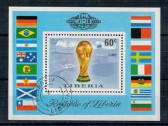 REPUBLIC  OF  LIBERIA   SHEET  THE WORLD CUP        (OBLITERATO) - Liberia