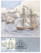 (166) Australia Collector Card - The First Fleet Departure (5 Cards Set) - Australie