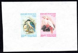 New Zealand Wine Post Se-Tenant Pair On Handmade Paper. Endemic Birds Imperf. - New Zealand