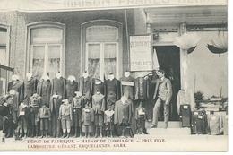 Erquelinnes - Maison Franco -Belge : Façade :dépôt De Fabrique ,spécialité De Vêtements . Gérant Labuissière Gare - Erquelinnes