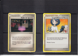 LOT De 2 Cartes POKEMON      TRAINER Et  SUPPORTER Pokemon   Etat Neuf - Playing Cards (classic)