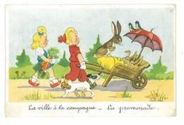 CPA ILLUSTRATEUR ROB-VEL LA VILLE A LA CAMPAGNE - Autres Illustrateurs