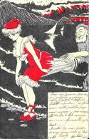 [DC10281] CPA - RARA - SCHERZO HUMOR - ILLUSTRATA FIRMATA - Viaggiata - Old Postcard - Humor