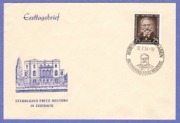 DDR SC #212 1954 Fritz Reuter, Writer FDC 07-12-1954 - [6] Democratic Republic