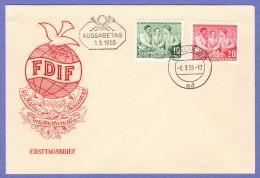 DDR SC #233-4 1955 International Women's Day FDC 03-01-1955 - [6] Democratic Republic