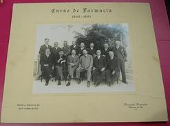 Photograph(36x30cm) Portugal * Figueira Da Foz * 1932 * Curso De Farmacia De 1900-1901 * Fotografia Peninsular - Persone Identificate