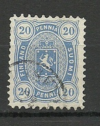 FINLAND FINNLAND 1881/82 Michel 16 B O - Used Stamps