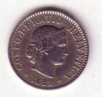 Lot N° 166 -  1 Pièce De 5 Centimes (rappen) , 1889 Rare 500 000 Ex - Suisse