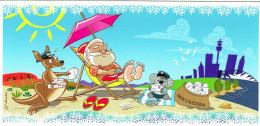 Nouvelle Caledonie Carte Postale Pere Noel Galaxie Tropicale Noumea Avec Cad Agence Philatelique 2012 Neuve - Nouvelle-Calédonie