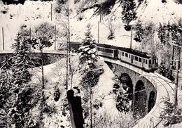 Reproduction:  / BCFe 4/4 7 (7-22, SIG/Alioth 1904-08) Bois Du Chenaux Vers 1920 Train M.O.B. BVA - Stations - Met Treinen