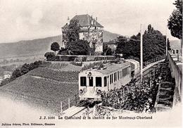 Reproduction:  / Le Châtelard Et Le Chemin De Fer Montreux-Oberland  Train M.O.B. BVA - Stations - Met Treinen