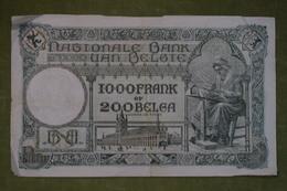 Banque Nationale De Belgique - 1000 Francs Ou 200 Belgas - 18.02.1929 - N°090.D.676 - 1000 Francs & 1000 Francs-200 Belgas