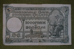 Banque Nationale De Belgique - 1000 Francs Ou 200 Belgas - 18.02.1929 - N°090.D.676 - [ 2] 1831-... : Koninkrijk België