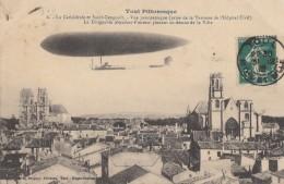 """CPA - Toul - Le Dirigeable """" Adjudant Vincent """" Planant Au Dessus De La Ville - Toul"""
