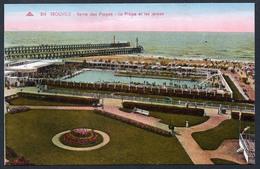 A4748 - Cartes Postales Anciennes - Trouville - Reine Des Plages La Plage Et Les Jetées - Trouville