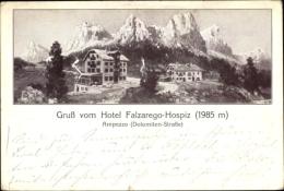 Cp Ampezzo Veneto, Gruß Vom Hotel Falzarego Hospiz - Italy