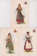 Lot 6 CPSM 10X15 . ITALIE . Folklore . Illust. CARINI A . Femmes En Costumes Régionaux ( Voir Liste Ci-dessous) - Sin Clasificación