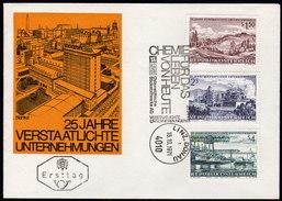 ÖSTERREICH 1971 - 25 Jahre Verstaatlichte Unternehmen - Sonderausgabe FDC - Fabriken Und Industrien