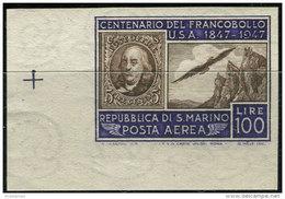 San Marino 1947. Sassone #A75b MNH/Luxe. (B13) - Essais & Réimpressions