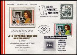 ÖSTERREICH 1987 - Die österreichische Arbeitswelt - Kombi Sonderstempel FDC - Fabriken Und Industrien