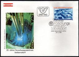 ÖSTERREICH 1981 - 25 Jahre Forschungszentrum Seibersdorf - Sonderstempel FDC - Fabriken Und Industrien