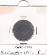 GERMANIA  10 REICHSPFENNIG 1947  LETTERA A  COME DA FOTO - [ 5] 1945-1949 : Occupazione