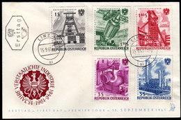 ÖSTERREICH 1961 - Verstaatlichte Industrie - FDC - Fabriken Und Industrien