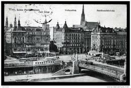 Wien Vienne - Kaiser Ferdinandplatz - Café Siller Stefansdom Ferdinandbrücke - 1914 - Back Is Written - Unclassified