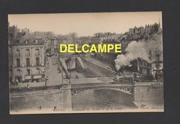 DD / TRANSPORTS / CHEMINS DE FER / TRAINS / À NANTES PASSAGE DU TRAIN A VAPEUR CONFLUENT DE L'ERDRE ET DE LA LOIRE - Trains