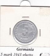 GERMANIA  5 MARK 1943  GHETTO  COME DA FOTO - [ 4] 1933-1945 : Third Reich