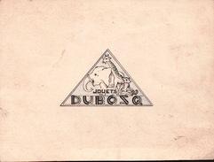 CARTE PUBLICITAIRE Des JOUETS DUBOZQ - Advertising