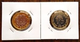 # GRANDE-BRETAGNE 1 Pound Bimetalique 2016 AUNC - 1971-… : Monnaies Décimales