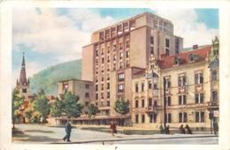 D1003 Romania Brasov Orasul Stalin Hotel Carpati 1957 - Roumanie