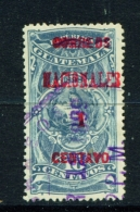 GUATEMALA  -  1898  Opt. Fiscal Stamps  Surcharges  1c On 10c  Used As Scan - Guatemala