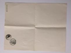 EN TETE De LETTRE VIERGE A4 Avec Plusieurs Cachets + Filigrane RF 1958 CE02336 - Timbri Generalità