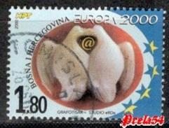 Bosnia Croatian Post - EUROPA 2000 Used - Bosnia And Herzegovina