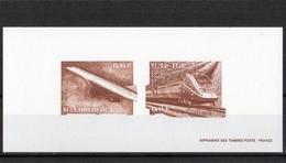 """LA   GRAVURE  OFFICIELLE  2002  --  Y & T  N°  3471  /  3475  --  """"""""    LE  CONCORDE  &  TGV    """""""" --  NEUF........ - Documents Of Postal Services"""