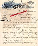SUISSE- COUVET-  LETTRE MANUSCRITE SIGNEE EDOUARD DUBIED- FABRIQUE MACHINES A TRICOTER-VISSERIE-1901 - Suisse