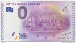BILLET TOURISTIQUE 2015 CHATEAU ROYAL DE COLLIOURE PYRENEES ORIENTALES - EURO