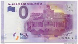 BILLET TOURISTIQUE 2016 PERPIGNAN PALAIS DES ROIS DE MAJORQUE - EURO